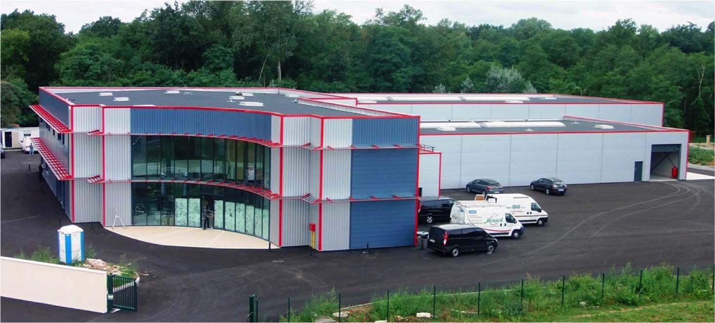 Bureaux et bâtiment de construction industriel - Indre-et-Loire